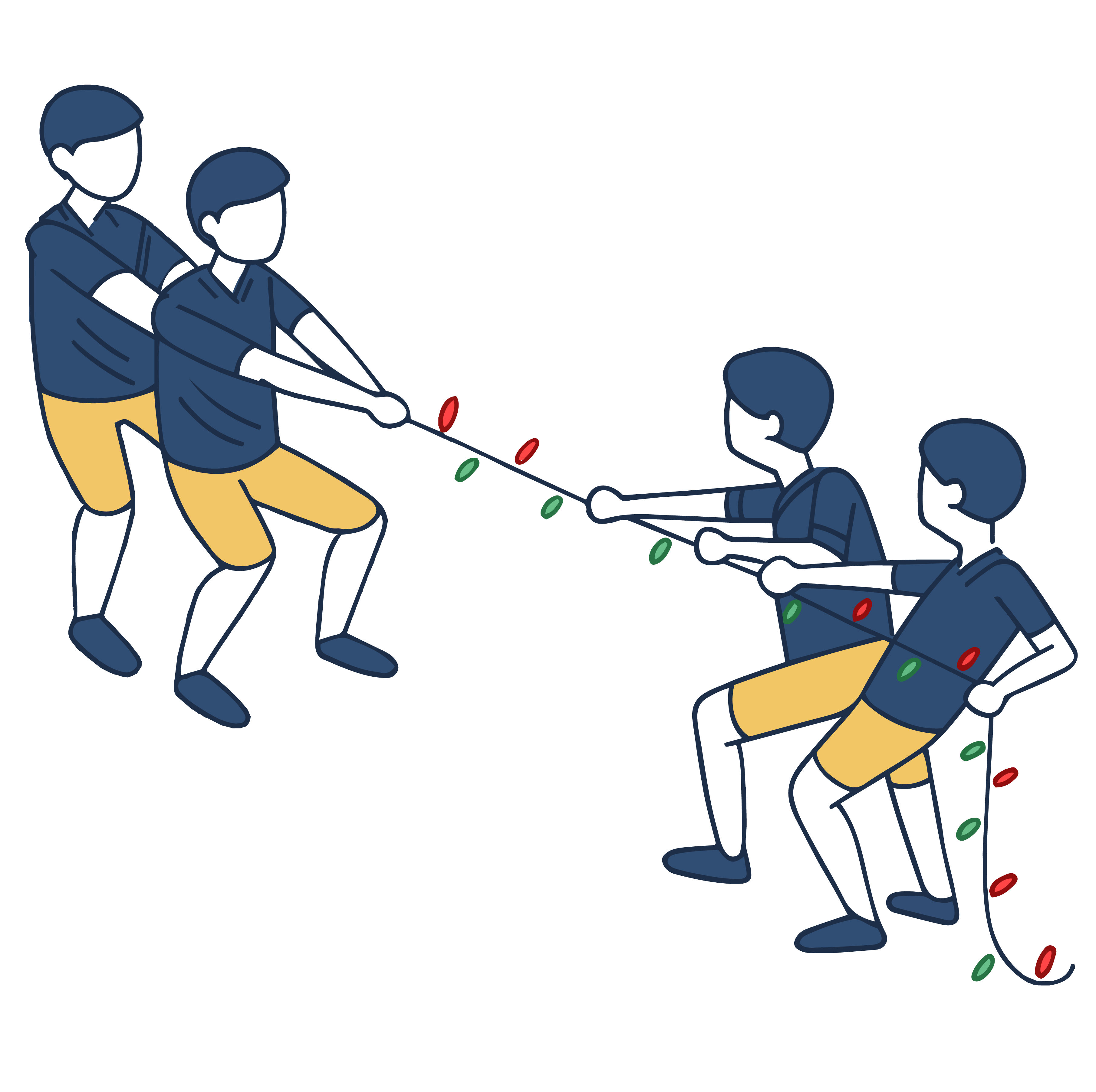 Christmas Light Tug of War
